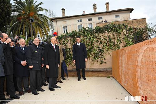 """Inugurazione del """"Muro della Costituzione della Repubblica Romana del 1849"""""""