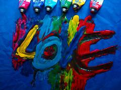 In Love With Colours (Ai in Technicolor) Tags: red verde green love yellow rainbow paint colours purple blu rosa giallo viola rosso colori arcobaleno amore inlove tempera pittura innamorato gialo