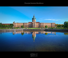 Prussian Summer Residence (HDR) (farbspiel) Tags: reflection berlin history water photoshop germany logo deutschland photography nikon wideangle palace historic handheld nikkor dri hdr highdynamicrange watermark hdri charlottenburg postprocessing 18200mm d90 photomatix wasserzeichen tonemapped tonemapping watermarking detailenhancer topazadjust topazdenoise klausherrmann topazsoftware nikonafsdxnikkor18200mm13556gedvr topazinfocus