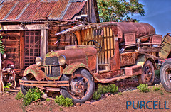Ford Model AA  C-Cab Fuel Truck (Jim Purcell) Tags: old roof arizona usa green ford photoshop truck modela vintage tin rust desert pentax antique decay rusty automotive mining jerome ghosttown junkyard limited hdr abondoned 1929 fueltruck photomatix goldkingmine outtopasture ccab k20d pentaxk20d nationalhisoriclandmark tucsonphotographer smcpentaxfa43mm19limited