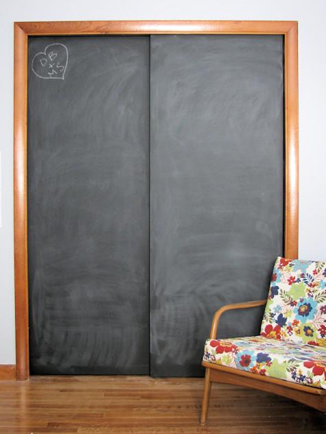 chalkboard paint Closet Doors