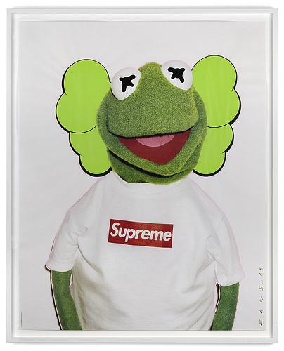 Supreme x Kermit x kaws