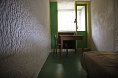 Monk Cell, La Tourette Monastery (Garrett Rock) Tags: autumn france fall halloween concrete catholic lyon cellular monastery monks lecorbusier catholicism cells latourette rhonevalley eveux pilotis betonbrut iannisxenakis dominicanorder charlesdouardjeanneret dominicanmonks saintemarielatourette