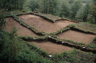 Arkeologisk utgravning i Láksjohka i Tana