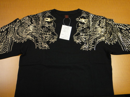 Yakuza 4 - Rare imported Golden Dragon long-sleeve shirt (front)