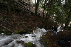 my favorite photographer/that's my boy!!! (Oma Darling Photography) Tags: county longexposure trees 20d water creek forest canon washington moss woods rocks stream wideangle flowing eastern elijah pendoreille rushing hassler right2roam marilynhassler scotiacanyon omadarlingphotography
