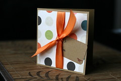 gift-wrapped card