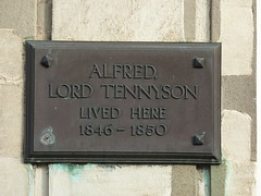 Photo of Alfred Lord Tennyson bronze plaque