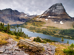 Hidden Lake in Glacier National Park (jim_david) Tags: snow montana glaciernationalpark hiddenlake loganpass bearhatmountain