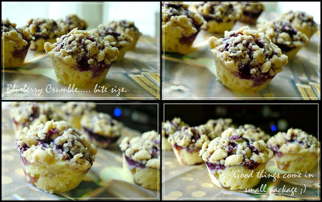 Bite-size Blueberry Crumble