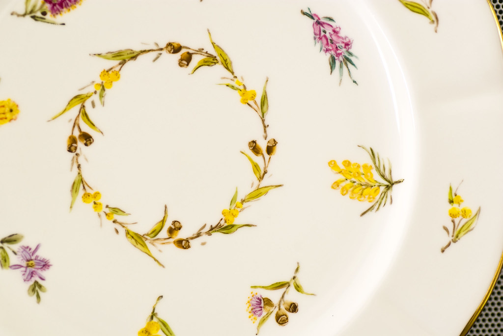 Australian natives on Bone china, Ingrid Lee