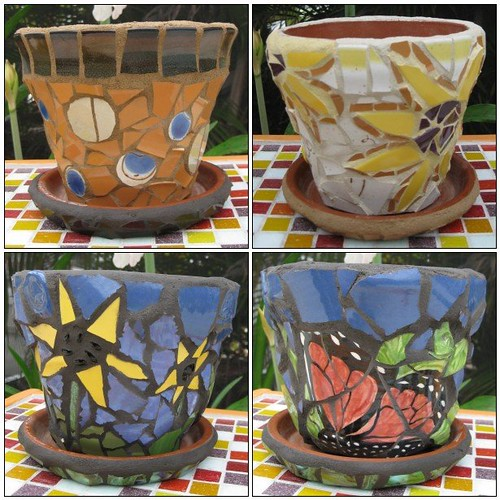 Three new garden pots