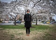 environmental (gustavize) Tags: city trees urban woman girl lady circle dc washington hipster cherryblossoms