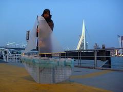 Protei 5.1 by Rotterdam bridge (cesarharada.com) Tags: roof green diy rotterdam welding inflatable cesar heat strong etienne making articulated v2 henrik harada shapeshifting ilight gernez opensailing rudstrom