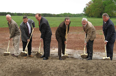 Feed mill groundbreaking