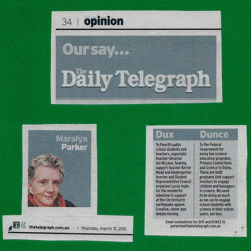Dux - Daily Telegraph