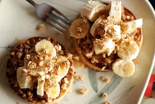 frozen waffle breakfast