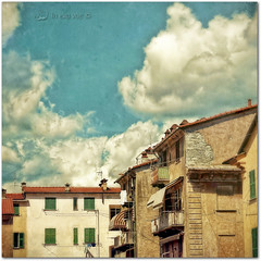 Preset  Cross enhance clarity  (NO HDR) (in eva vae) Tags: life morning blue windows light sky urban italy building texture clouds photoshop canon vintage eva rooftops liguria tetti roofs canvas laundry nubes balconies walls chimneys squared comignoli muri lightroom cortile bucato laspezia panni tourquoise balconi digitalcameraclub presets eos500d eosrebelt1i inevavae mygearandme