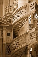 Etienne yellow (campra) Tags: paris france church monochrome architecture stairs etienne mont renaissance eglise balustrade
