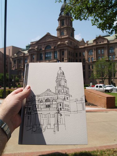 sketching the tarrant county courthouse