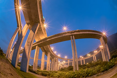 Highway (xhowardlee) Tags:    driving evening urban traffic blurred fast illuminated view crossing beautiful movement street curve night scenery city yellow dividing motorway flyover light dusk scenic ray meandering highway freeway land landmark lane vehicle junction abstract dark taiwan color way line headlight car motion transportation defocused speed transport modern bridge scene outdoors road taichung       fisheye
