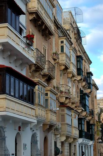 Valletta, Malta Enclosed Balconies