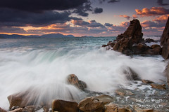Splash ( Azkorri ) (saki_axat) Tags: sunset sea portrait sky costa seascape nature wet water clouds marina canon atardecer eos coast mar agua rocks wave tokina coastal cielo nubes splash filters olas bizkaia hitech euskalherria basquecountry rocas 1224 makingoff 50d azkorri cantabric gnd8 canonikos