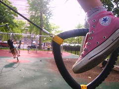 Stay active with Chucks! (Quynh of Hearts) Tags: park pink playground shoes sneakers jungle converse gym chucks active conversesneakers