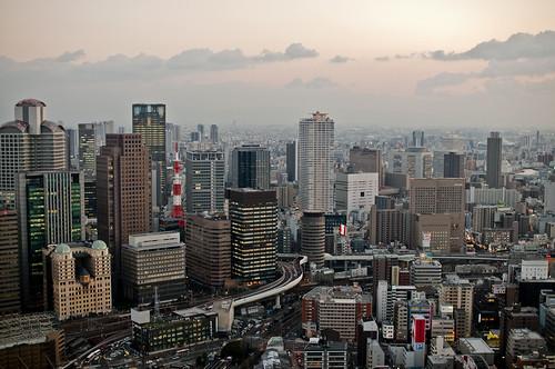 Osaka sunset from Umeda Sky Building