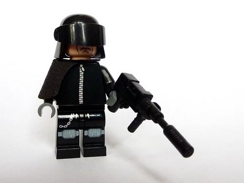 Custom minifig Futuristic Police- S.W.A.T