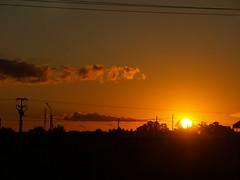Summer sunset ((( n a t y ))) Tags: sunset summer orange sun sol clouds dark atardecer verano chaco naranja nube helio