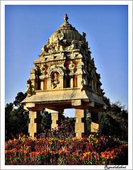 Kempa Gowda Tower, near Mekhri Circle, Bangalore (Ramalakshmi Rajan) Tags: india tower bangalore karnataka historicindia kempegowda 1537ad