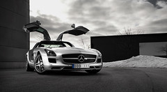 Mercedes SLS (Bilbilder.se) Tags: cars car mercedes automotive 63 mercedesbenz sls amg gullwing