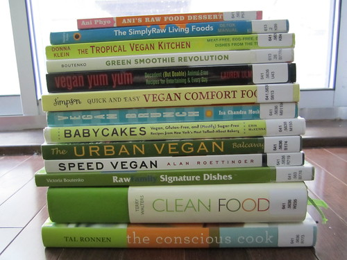 Vegan Cookbooks from the Ottawa Library