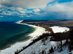Winter on Sleeping Bear. Explored (Happyhiker4) Tags:
