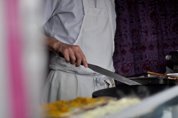 Market pancake man