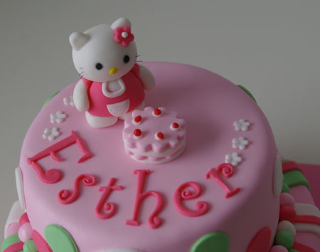 Tarta Hello Kitty fondant