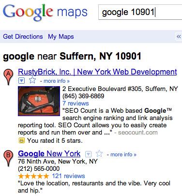 Google of Suffern, New York