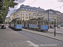 Norrmalmstorg (ernstkers) Tags: trolley tranvia tramvia tram streetcar spårväg djurgårdslinjen eléctrico strasenbahn stockholm spårvagn bonde