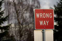 Right way? (Jam_ONG) Tags: sign vancouver canon john way eos bc wrong signage jam ong lightroom jamong 60d