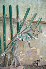 contortion (Brian Negus) Tags: fence scrapyard twisted blindphotographers
