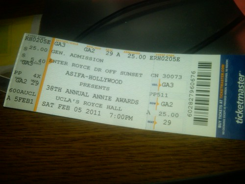 Annie ticket