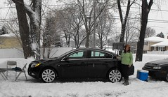 Dibs on the 2010 Chevy Cruze by Amy DeRosa (DrivingTheMidwest) Tags: snow chicago chevy