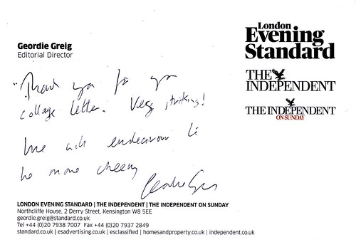 Response from Evening Standard