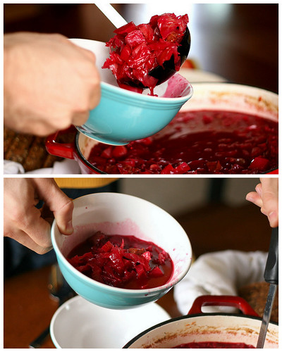 Authentic Russian Borscht | soup recipes | beef recipes | paleo recipes | gluten-free recipes | dairy free recipes | stew recipes | Russian recipes | beet recipes | perrysplate.com