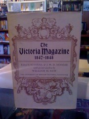Image for The Victoria Magazine 1847-1848 by Moodie, Susanna & J.W.D.; New, William H. (introduction) by Moodie, Susanna & J.W.D.; New, William H. (introduction)