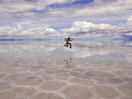 Wendy getting air on the Salt Flats