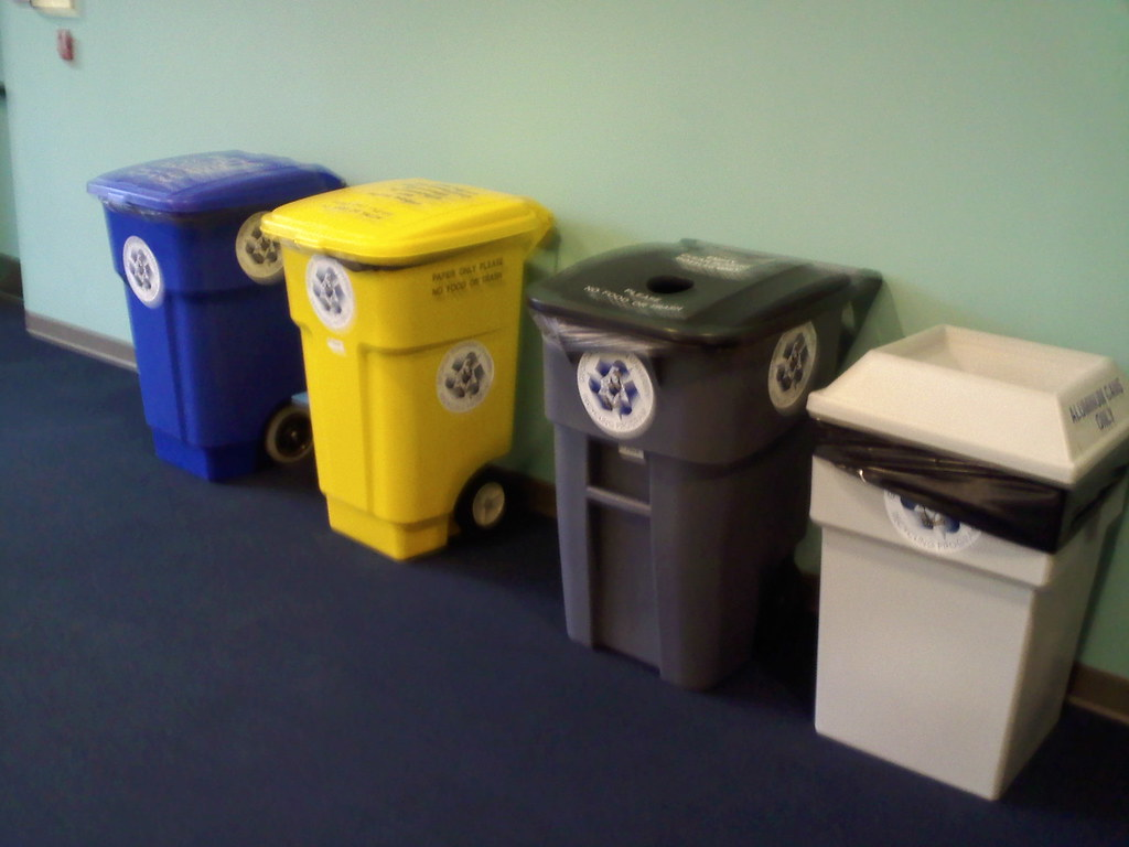 Recycling Bins on second floor of Henderson Library