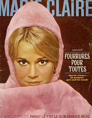 Marie Claire-November 1965 (Fashion Covers Magazines (Second)) Tags: janefonda 1965 pierrecardin marieclaire vintagefashion vintagemagazine 1960s marieclairemagazine 1960sfashion
