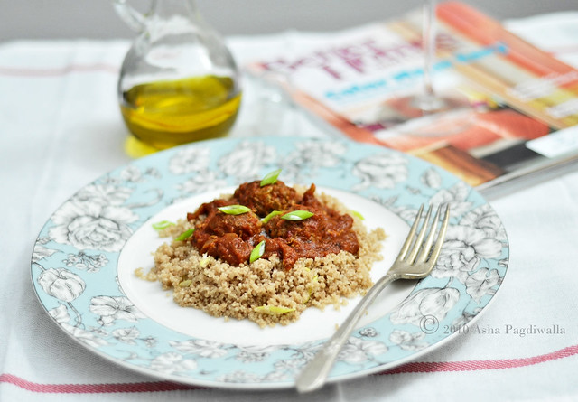 Spelt Couscous, meatball and sauce